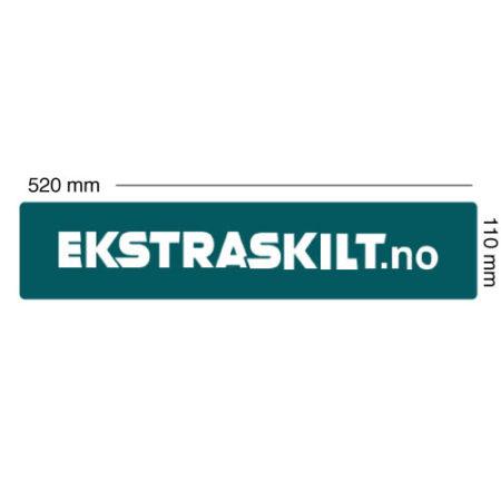 Bilskilt med logo - Norges ledende kvantumsrabatt - Ekstraskilt.no