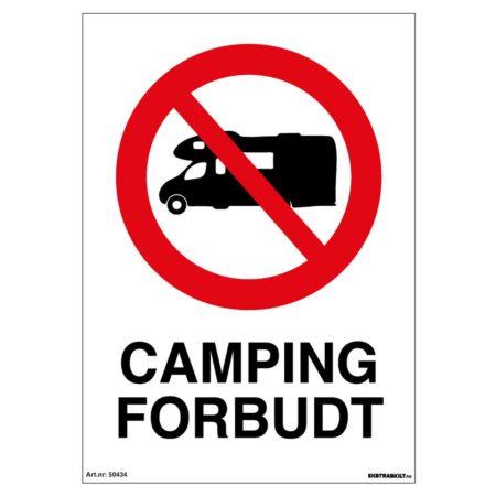 Camping forbudt skilt - Velg riktig forbudsskilt - Ekstraskilt.no