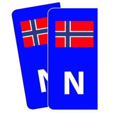 Blå Skiltmerker til bil - Nmerker med god passform - Ekstraskilt.no