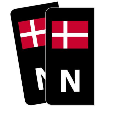 Skiltmerker med Dansk flagg - Nmerker med god passform