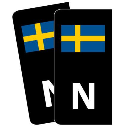 Skiltmerker med Svensk flagg - Nmerker med god passform - Ekstraskilt.no